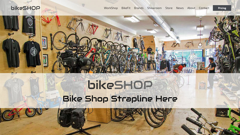 Bike Shop Web Site
