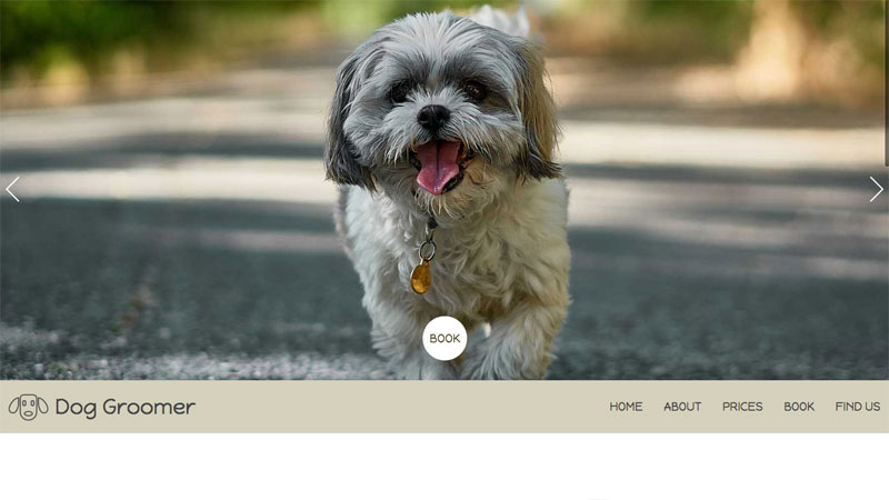 Dog Groomer Website