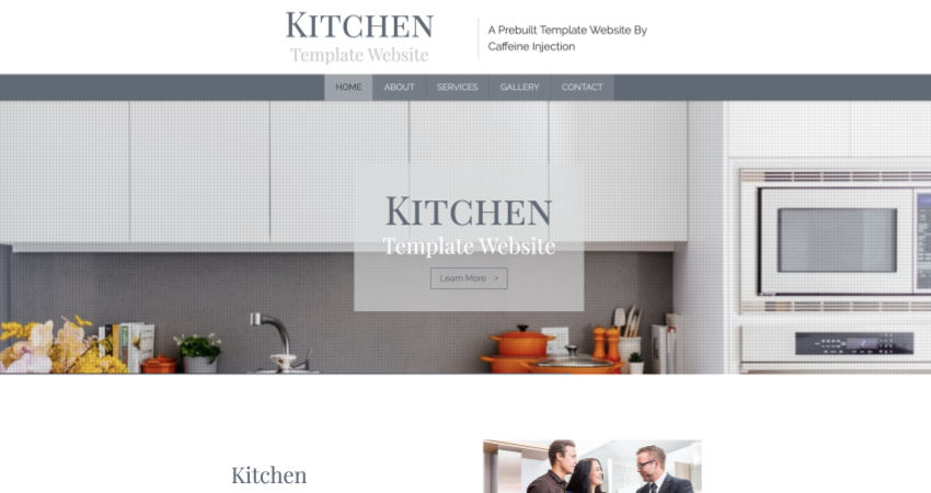 Kitchen Website Template
