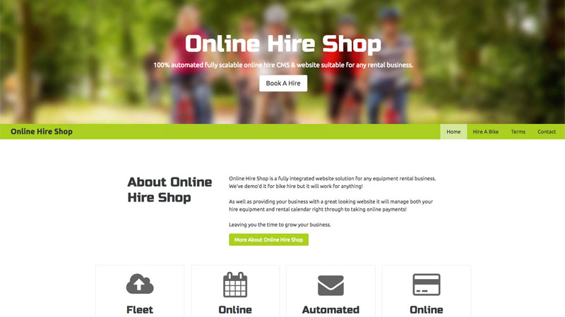 Online Hire Shop
