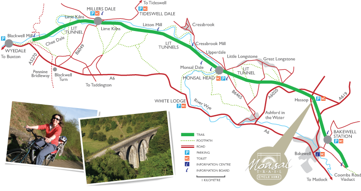 Monsal Trail cycle map